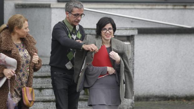 La juez Pilar de Lara, este miércoles, a la salida de los juzgados