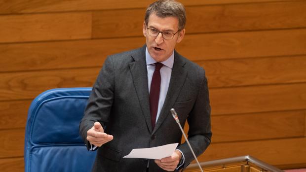 Feijóo, esta mañana en la sesión de control al presidente en la Cámara gallega