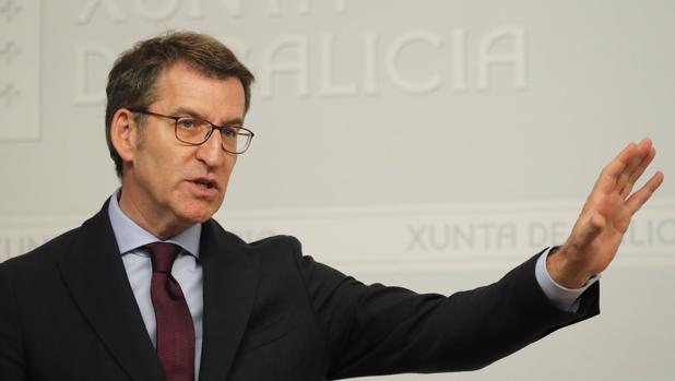 Alberto Núñez Feijóo, este jueves en la rueda de prensa posterior a la reunión del Consello de la Xunta