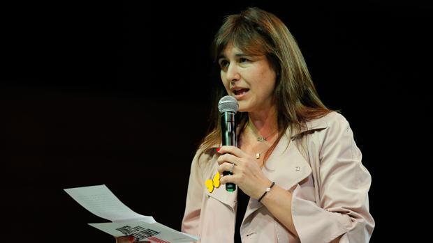 Laura Borràs durante el inicio de campaña de Junts per Catalunya