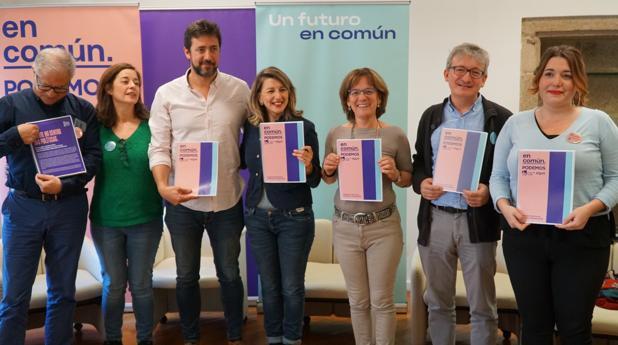 Los candidatos y redactores del programa electoral de En Común Unidas Podemos