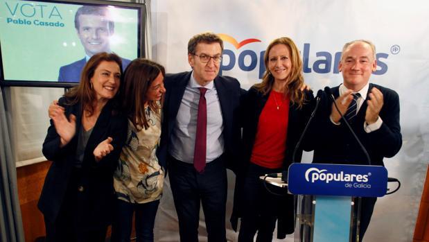 Alberto Núñez Feijóo, el jueves, en el arranque de la campaña del PPdeG