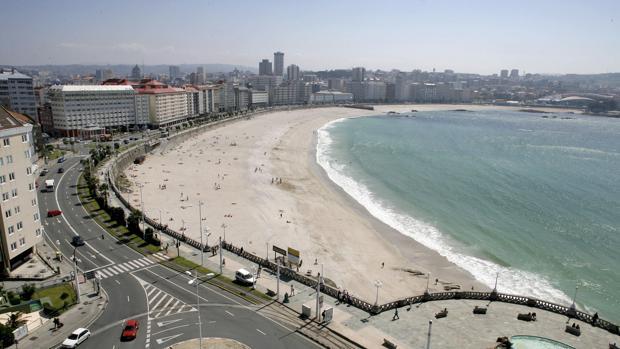 Vista aérea de La Coruña, ciudad donde tuvieron lugar los hechos
