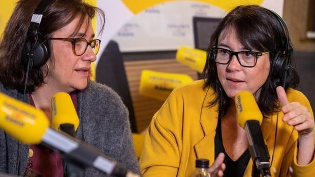 Las parejas de Jordi Turull y Raül Romeva en Catalunya Ràdio