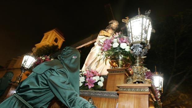 Imagen de uno de los pasos de la Semana Santa Marinera de Valencia