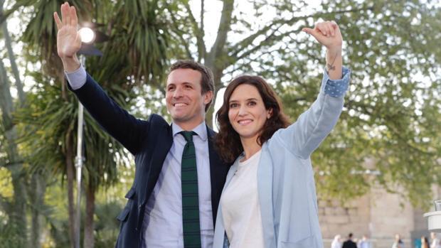 Pablo Casado e Isabel Díaz Ayuso, juntos en un reciente acto electoral
