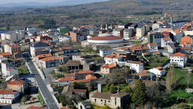 Vista aérea de Monterroso (Lugo)