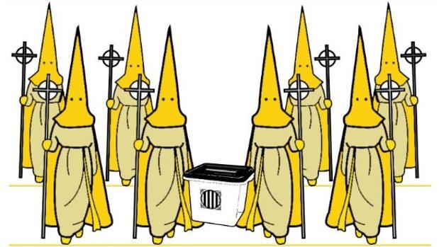 Imagen extraída del cartel por la «procesión amarilla»