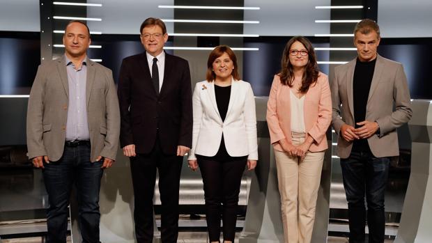 Imagen de los candidatoa a las elecciones autonómicas durante el debate en RTVE