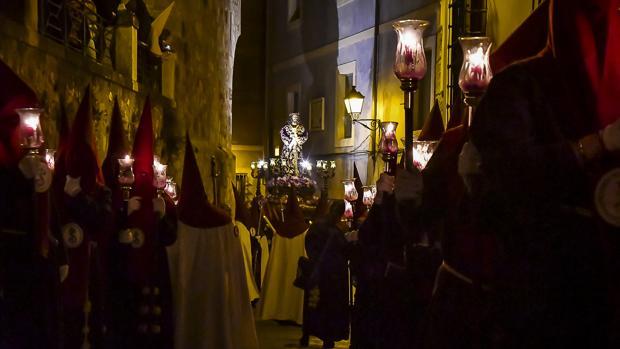 Nuestro Padre Jesús de Medinaceli, en la subida a Alfonso VIII a la Plaza Mayor de Cuenca