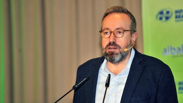 El portavoz de Cs en el Congreso y candidato por Toledo, Juan Carlos Girauta, en un acto reciente en Albacete