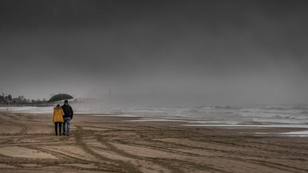 Temporal en las playas valencianas