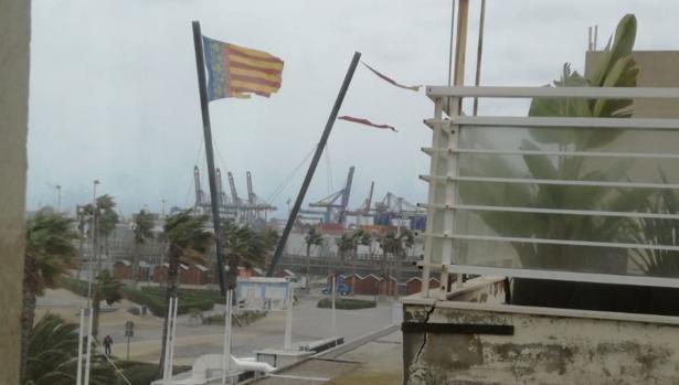 Imagen de la Marina de Valencia tomada este domingo