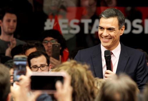 Imagen de Pedro Sánchez tomada este martes en la sede del PSOE