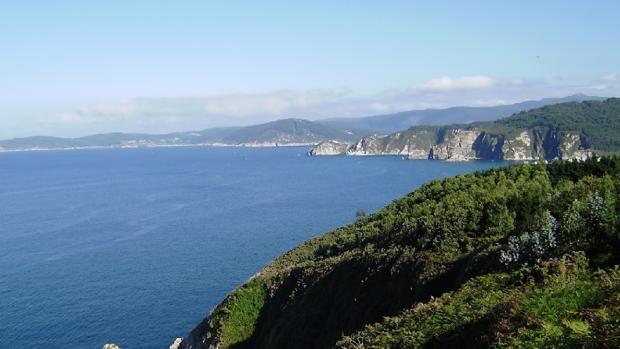 Vista del acantilado donde se produjo el extraño suceso
