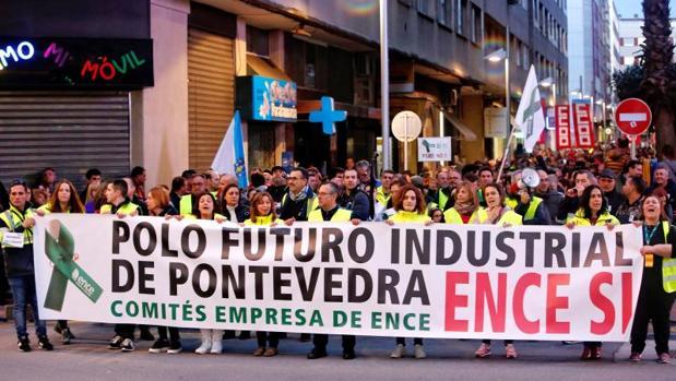 Los trabajadores de Ence se movilizaron masivamente en el último día de la campaña