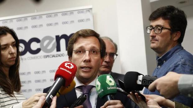 José Luis Martínez-Almeida, en declaraciones a los medios el pasado 25 de abril