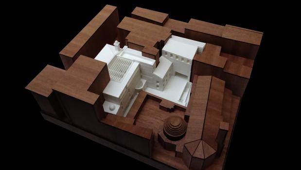 Maqueta con una simulación de cómo quedará el futuro Centro de Arte Hortensia Herrero