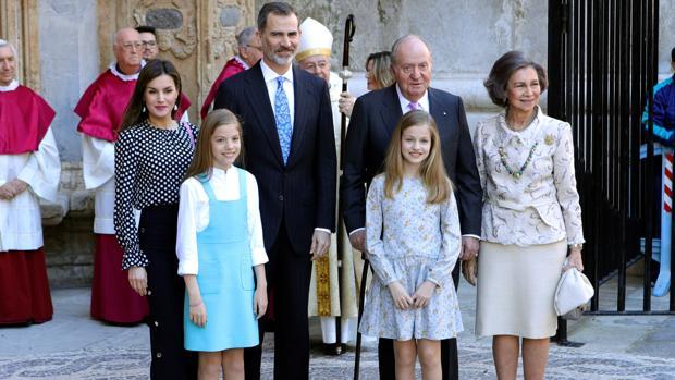 La Familia Real, al completo en Palma de Mallorca en abril de 2018