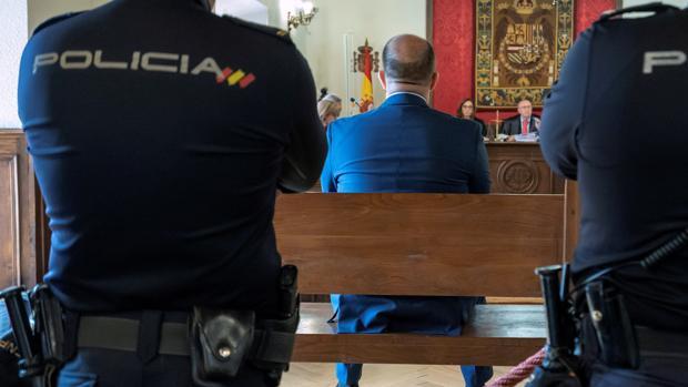 El presunto asesino de Mónica Berlanas, este lunes durante el juicio