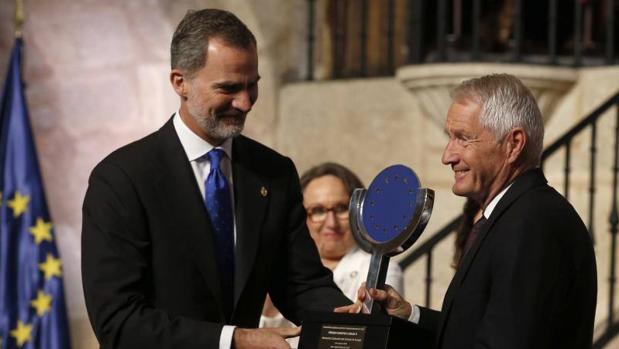 El Rey Felipe VI entrega del premio Carlos V a Thorbjorn Jagland