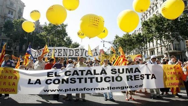 Manifestación respaldada por la Plataforma por la Lengua