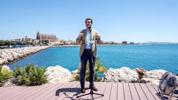 Pablo Casado, el martes en Palma de Mallorca