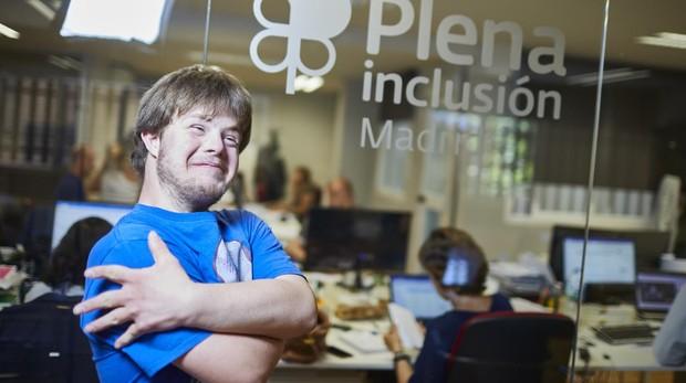 Jorge Alonso, en la sede de Plena Inclusión Madrid