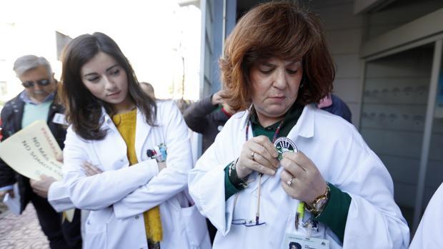 Protesta de profesionales sanitarios por la pérdida de calidad de la Atención Primaria