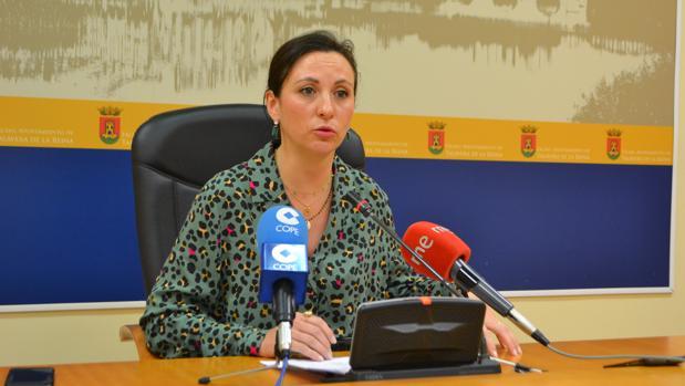 La portavoz del Gobierno municipal en rueda de prensa
