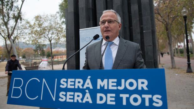 El candidato popular Josep Bou, en Barcelona