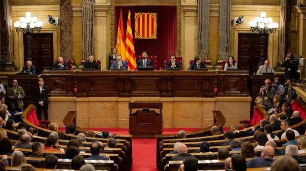 El Pleno celebrado ayer en el Parlamento de Cataluña