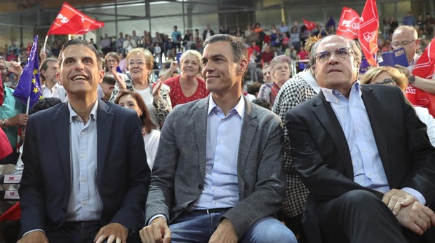 Javier Rodríguez, Pedro Sánchez y Ángel Gabilondo