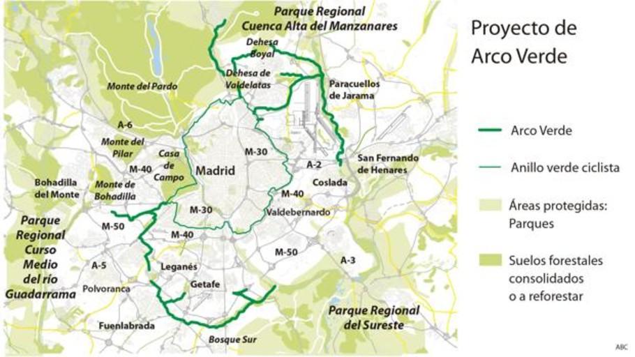 Ayuso creará un anillo verde de 75 kilómetros que una los grandes parques de la región