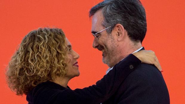 Batet felicita a Cruz en un acto del PSC este domingo en Barcelona