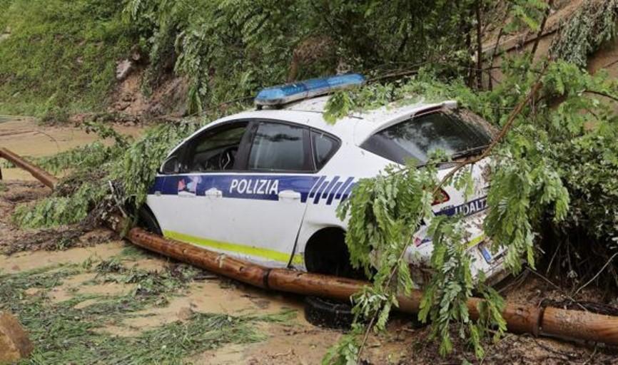 La lluvia provoca inundaciones y desprendimientos en Guipúzcoa
