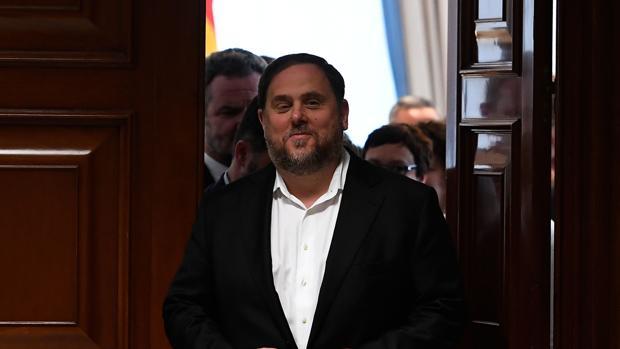 Oriol Junqueras, tras recoger su acta de diputado