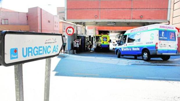 Entrada a Urgencias del hospital Virgen de la Salud de Toledo