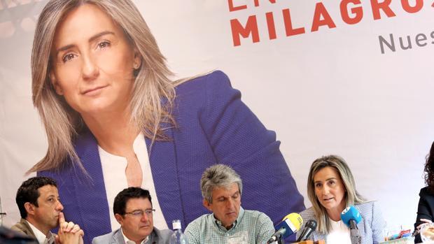 La alcaldesa de Toledo, Milagros Tolón, presentó este martes a los medios de comunicación su proyecto de ciudad