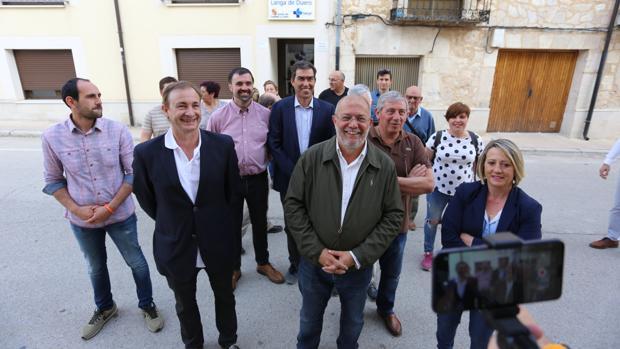 Francisco Igea, en El Burgo de Osma junto a candidatos de Ciudadanos
