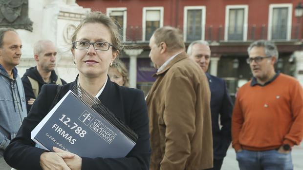 La presidenta de Abogados Cristianos, Polonia Castellanos, en una imagen de archivo
