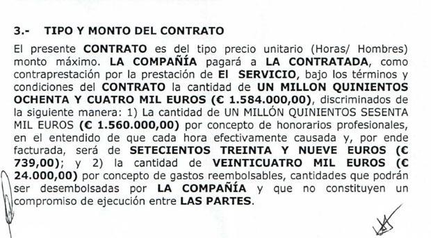 Morodo cobraba a PDVSA 739 euros por cada hora de trabajo ficticio de un despacho sin empleados