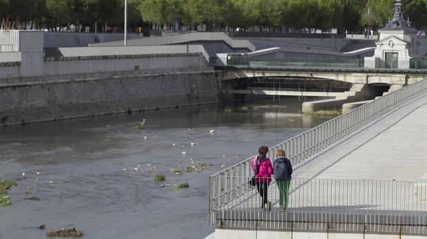 El río Manzanares, a su paso por Madrid