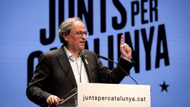 l presidente de la Generalitat, Quim Torra, en Gerona