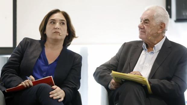 Colau y Maragall, en un debate de esta campaña electoral