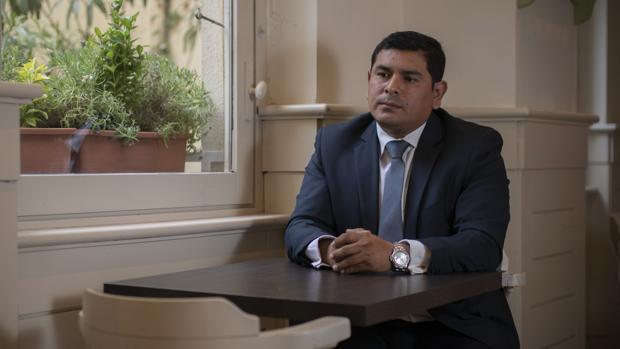 Víctor Joel Salas durante la entrevista