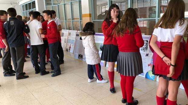 Uniforme del colegio Santa María de la Hispanidad