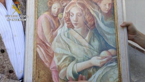 «Las Tres Damas», de Miguel Vicens, recuperado por la Guardia Civil
