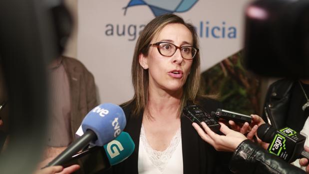 La conselleira de Infraestruturas, Ethel Vázquez, en declaraciones a los medios