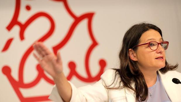 Mónica Oltra, este viernes en rueda de prensa